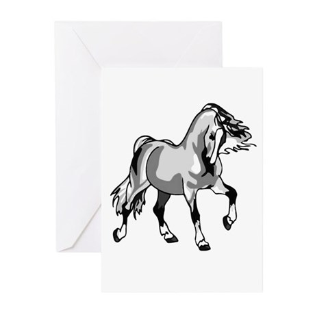Spirited Horse White Greeting Cards (Pk of 10)
