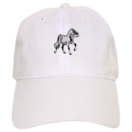 Spirited Horse White Cap