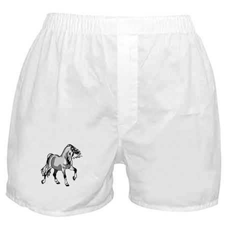 Spirited Horse White Boxer Shorts