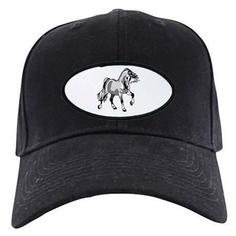 Spirited Horse White Black Cap