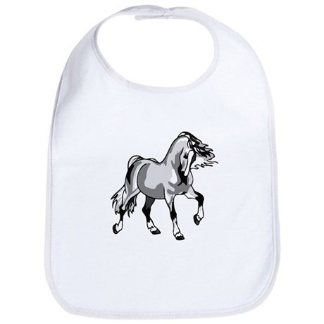 Spirited Horse White Bib