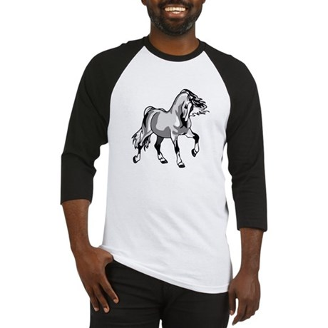 Spirited Horse White Baseball Jersey