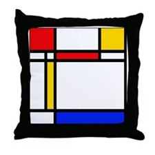 shower mondrian stripes Throw Pillow