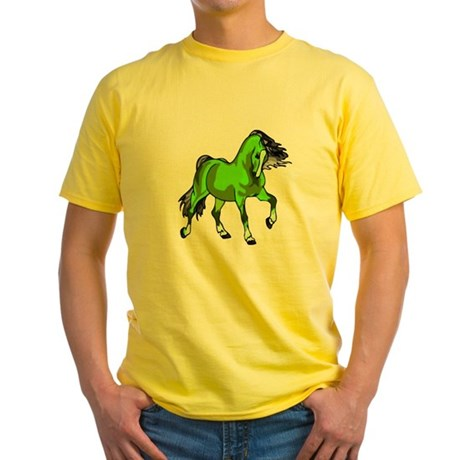 Fantasy Horse Lime Yellow T-Shirt