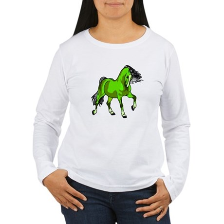 Fantasy Horse Lime Women's Long Sleeve T-Shirt