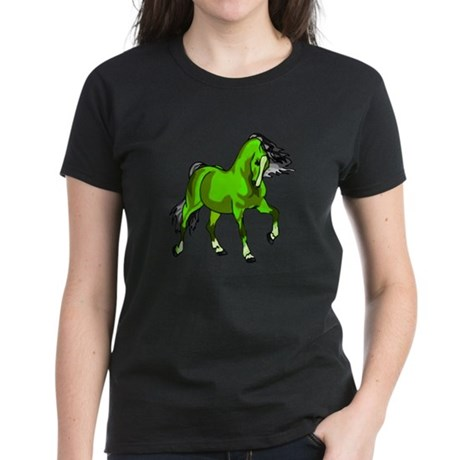Fantasy Horse Lime Women's Dark T-Shirt
