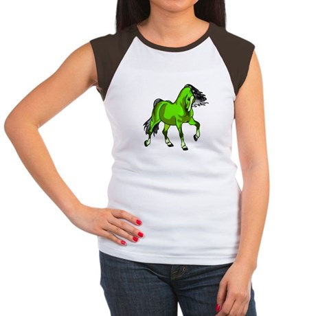 Fantasy Horse Lime Women's Cap Sleeve T-Shirt