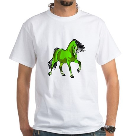 Fantasy Horse Lime White T-Shirt