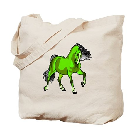Fantasy Horse Lime Tote Bag