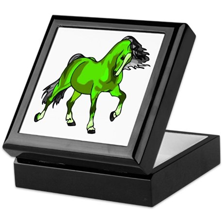 Fantasy Horse Lime Keepsake Box
