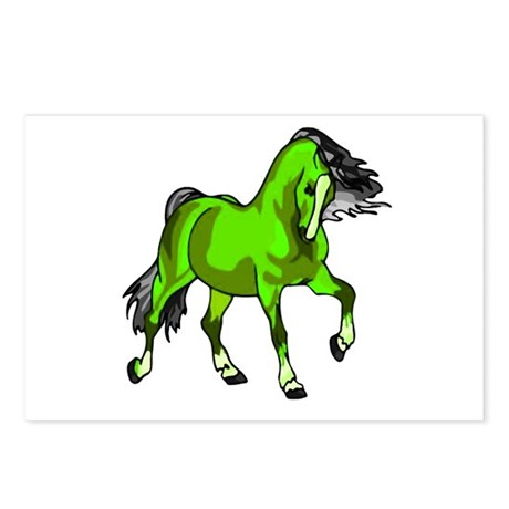 Fantasy Horse Lime Postcards (Package of 8)