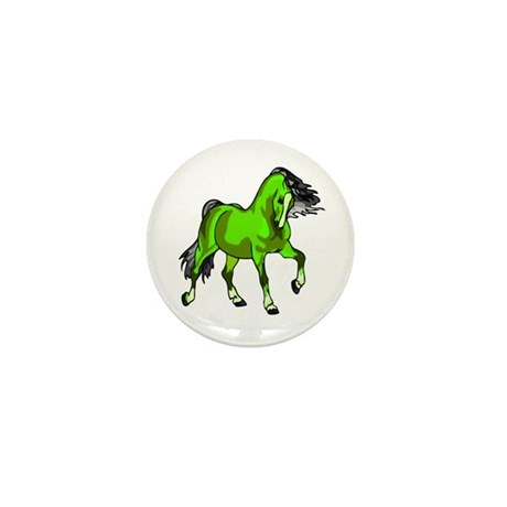 Fantasy Horse Lime Mini Button (100 pack)