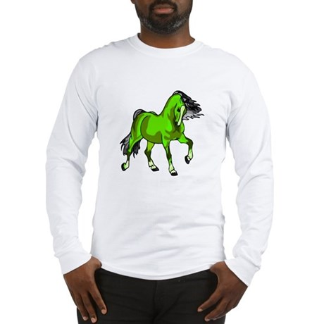 Fantasy Horse Lime Long Sleeve T-Shirt