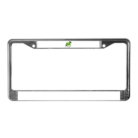 Fantasy Horse Lime License Plate Frame