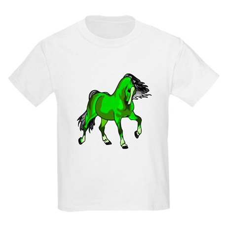 Fantasy Horse Lime Kids Light T-Shirt