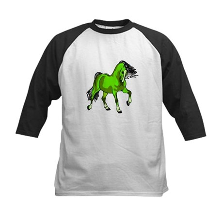 Fantasy Horse Lime Kids Baseball Jersey