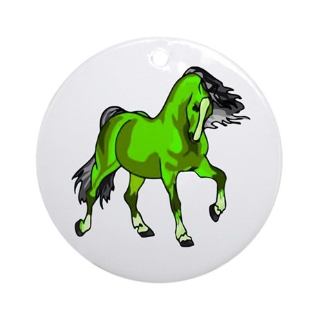 Fantasy Horse Lime Ornament (Round)