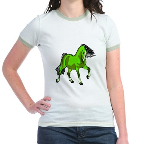 Fantasy Horse Lime Jr. Ringer T-Shirt
