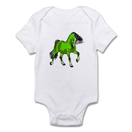 Fantasy Horse Lime Infant Bodysuit