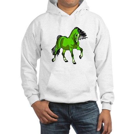 Fantasy Horse Lime Hooded Sweatshirt