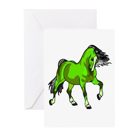 Fantasy Horse Lime Greeting Cards (Pk of 10)