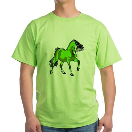Fantasy Horse Lime Green T-Shirt