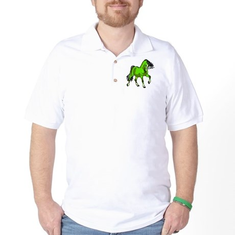 Fantasy Horse Lime Golf Shirt