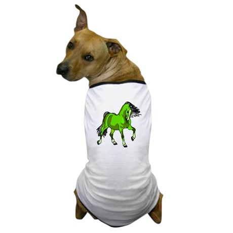 Fantasy Horse Lime Dog T-Shirt