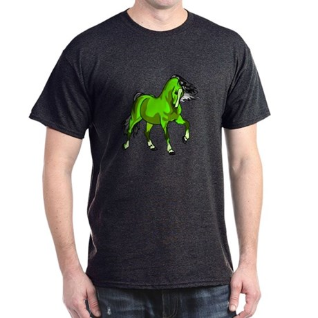 Fantasy Horse Lime Dark T-Shirt