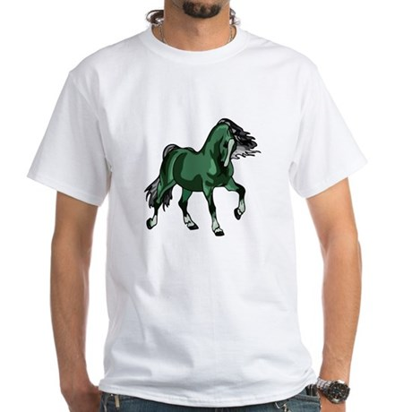 Fantasy Horse Green White T-Shirt