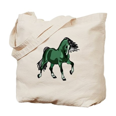 Fantasy Horse Green Tote Bag