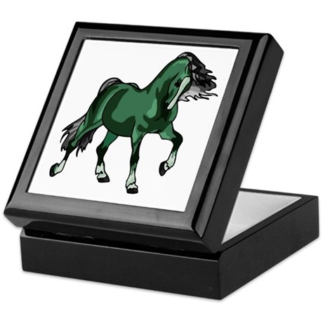 Fantasy Horse Green Keepsake Box