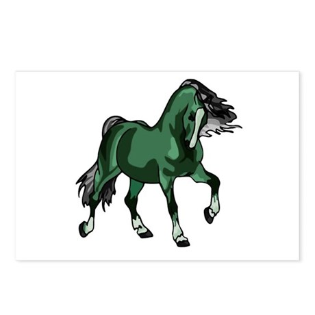 Fantasy Horse Green Postcards (Package of 8)