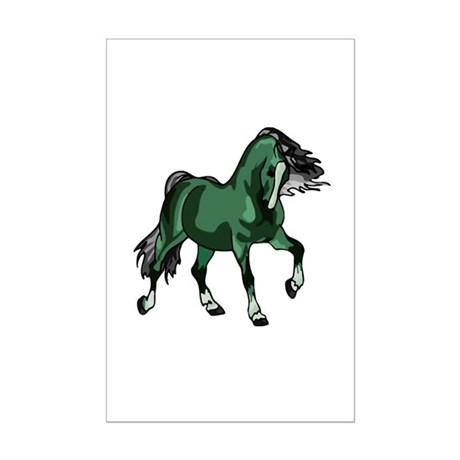 Fantasy Horse Green Mini Poster Print