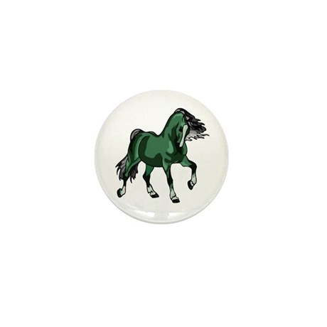 Fantasy Horse Green Mini Button