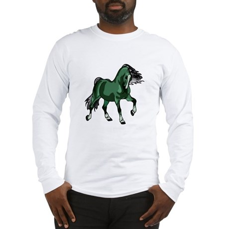 Fantasy Horse Green Long Sleeve T-Shirt