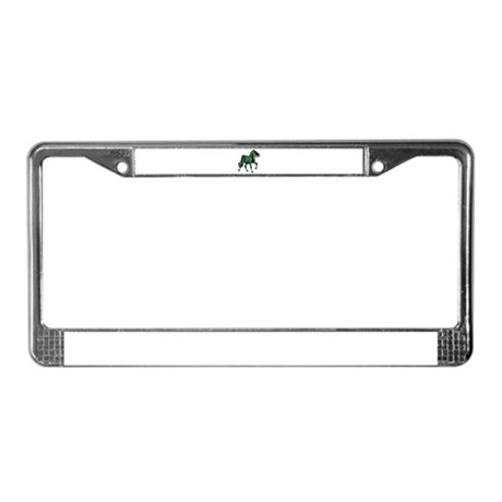 Fantasy Horse Green License Plate Frame
