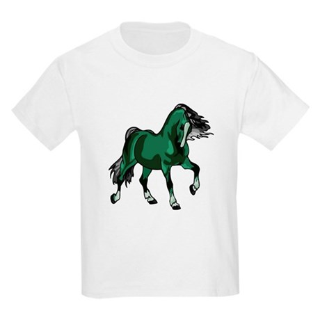 Fantasy Horse Green Kids Light T-Shirt