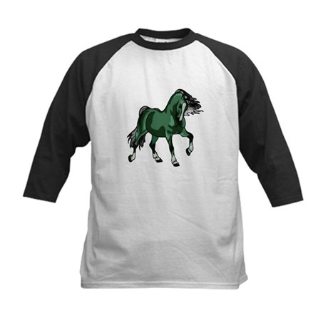 Fantasy Horse Green Kids Baseball Jersey