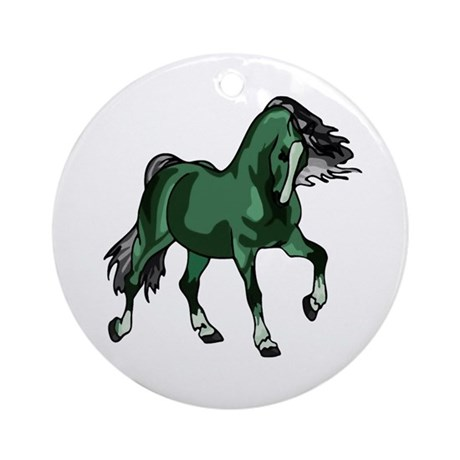 Fantasy Horse Green Ornament (Round)