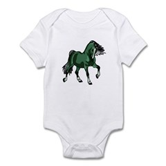 Fantasy Horse Green Infant Bodysuit
