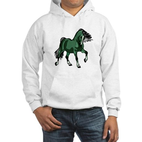 Fantasy Horse Green Hooded Sweatshirt