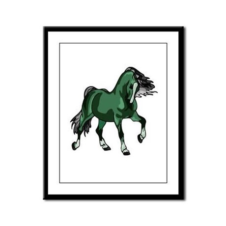Fantasy Horse Green Framed Panel Print
