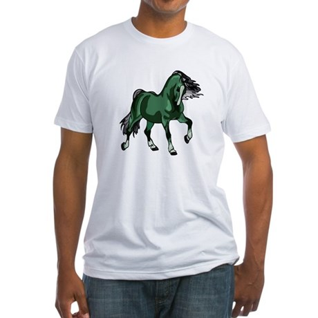 Fantasy Horse Green Fitted T-Shirt