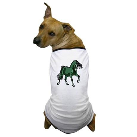Fantasy Horse Green Dog T-Shirt