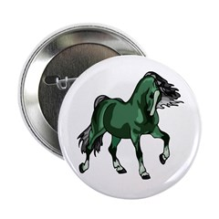 "Fantasy Horse Green 2.25"" Button (100 pack)"