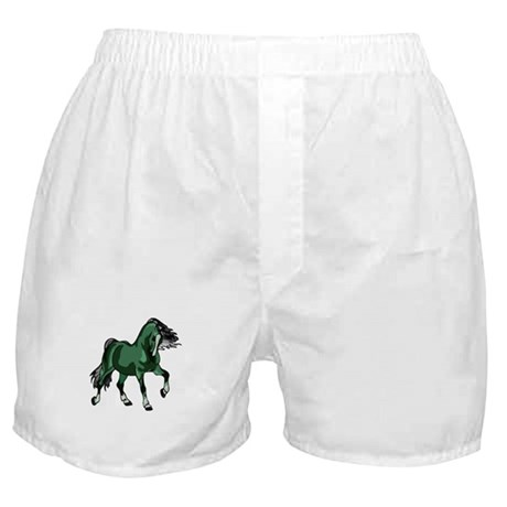 Fantasy Horse Green Boxer Shorts