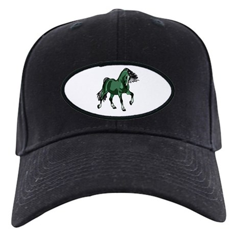 Fantasy Horse Green Black Cap