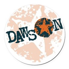 Dawson Band Star logo Orange Round Car Magnet
