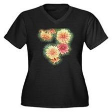 Wax Mums Women's Plus Size V-Neck Dark T-Shirt